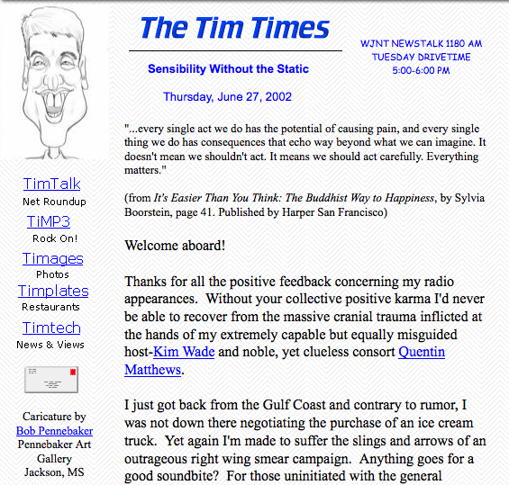 The Tim Times Layout- June 2002