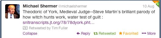 Shermer Fires Back
