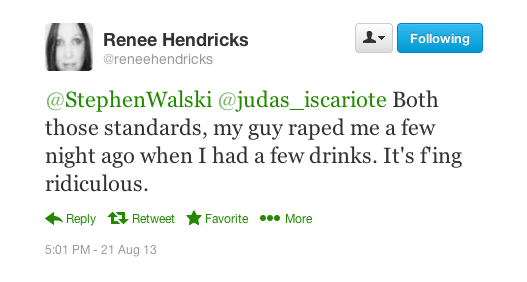 Tweet from Renee Hendricks