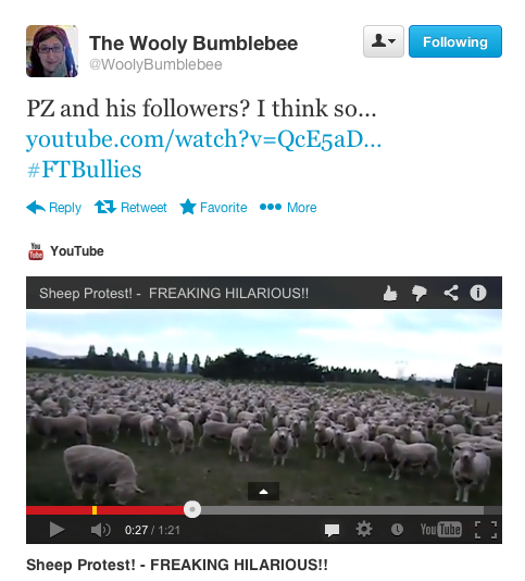 Tweet from Wooly Bumblebee
