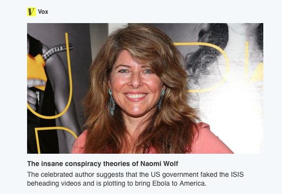 Naomi Wolf Insane or Prescient?