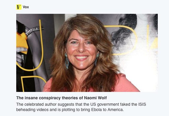 Naomi Wolf Insane or Prescient?